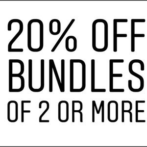 Other - 20% off all bundles of 2 or more!!!